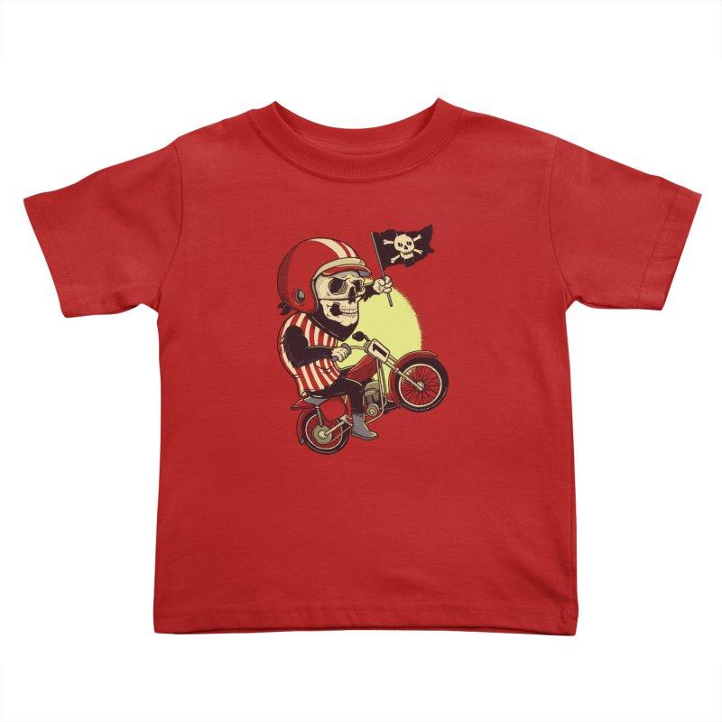 Skull Biker Kids Toddler T-Shirt by yortsiraulo's Artist Shop