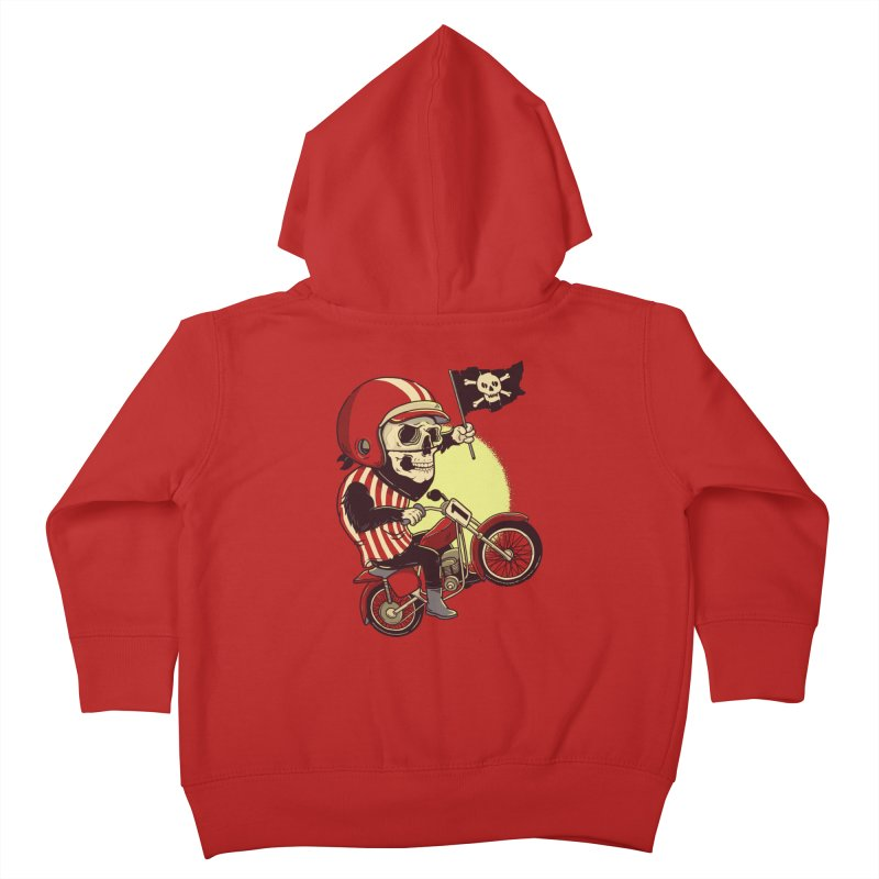 Skull Biker Kids Toddler Zip-Up Hoody by yortsiraulo's Artist Shop