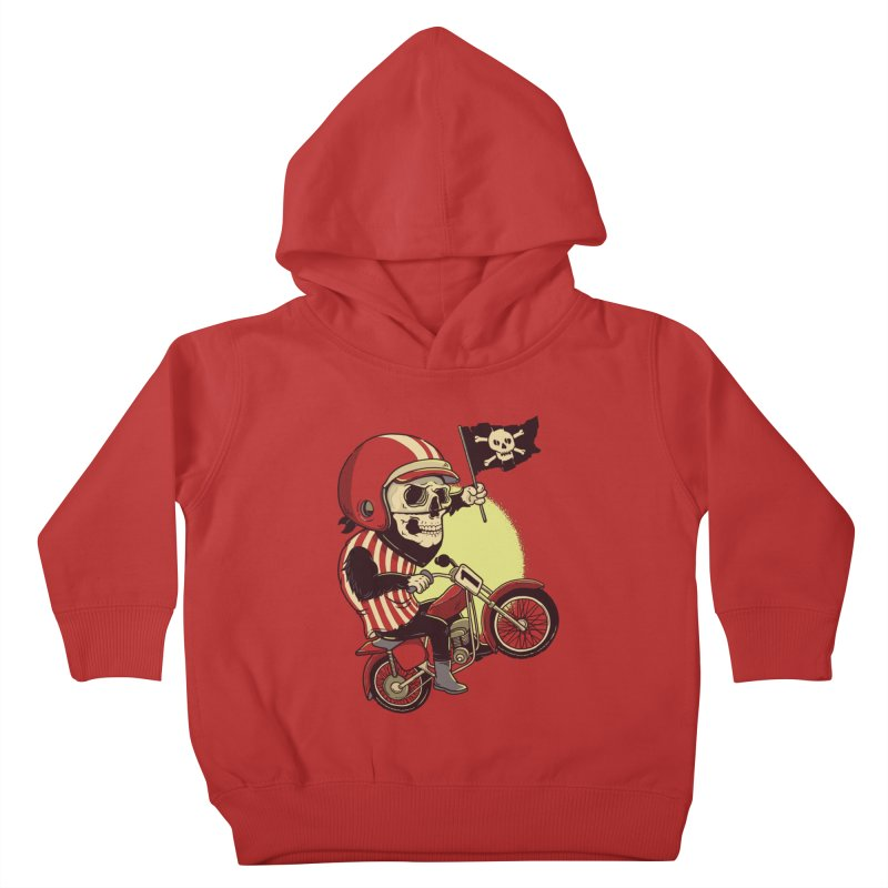 Skull Biker Kids Toddler Pullover Hoody by yortsiraulo's Artist Shop