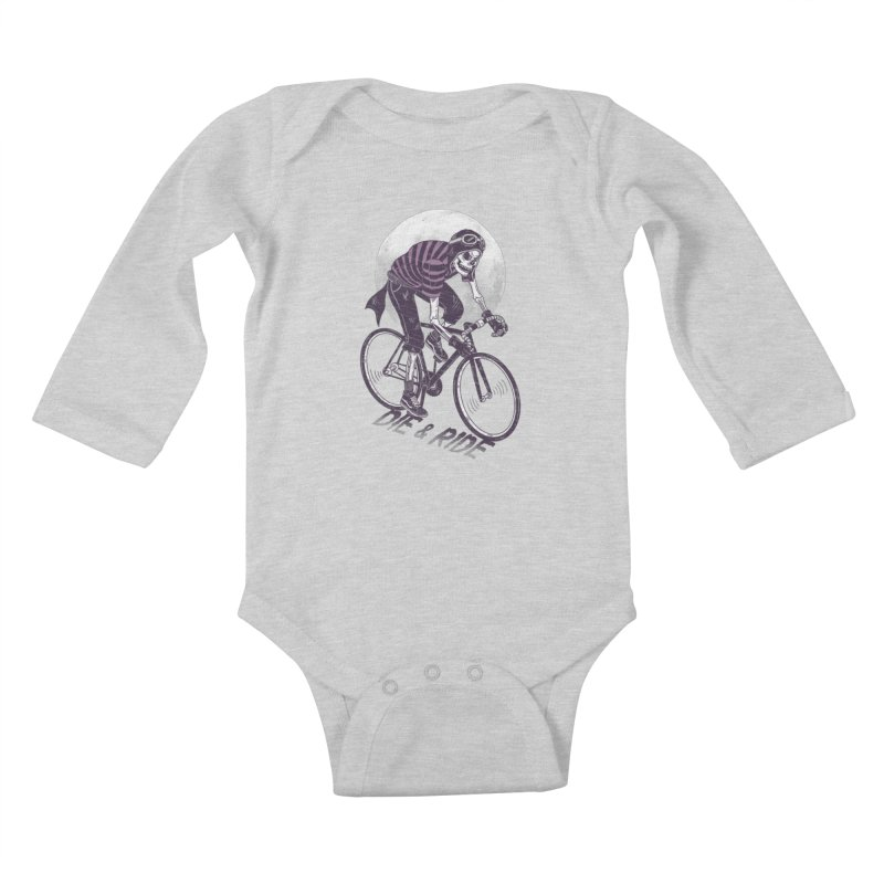 Die & Ride Kids Baby Longsleeve Bodysuit by yortsiraulo's Artist Shop