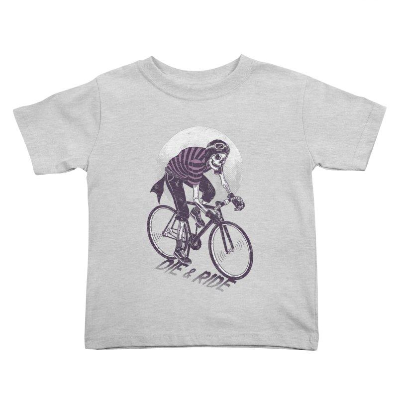 Die & Ride Kids Toddler T-Shirt by yortsiraulo's Artist Shop