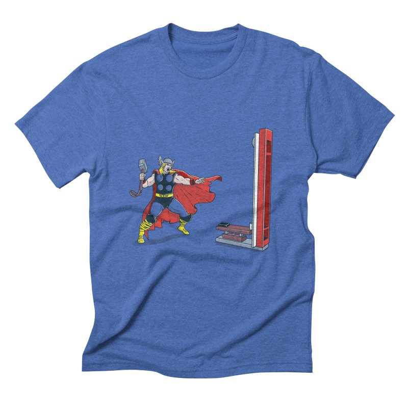 The Strongman Game Champion Men's Triblend T-shirt by yortsiraulo's Artist Shop