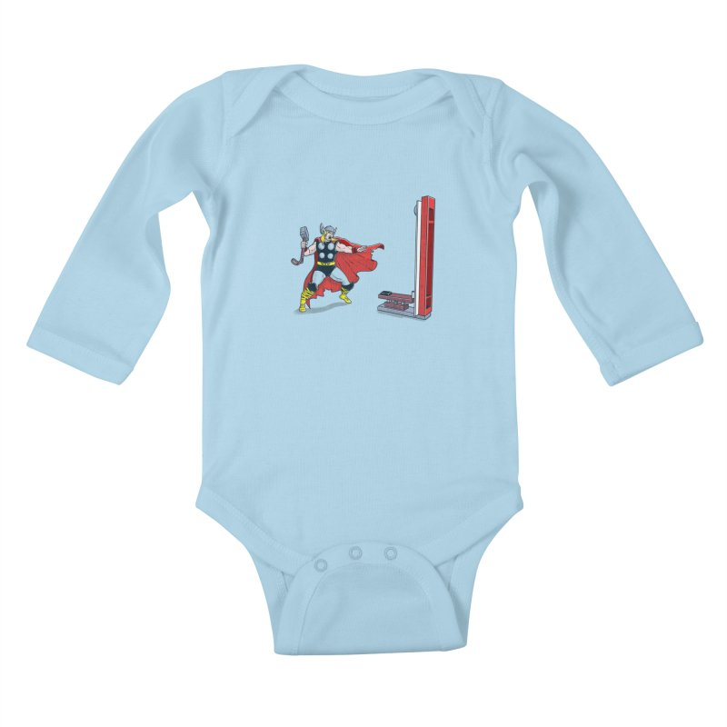 The Strongman Game Champion Kids Baby Longsleeve Bodysuit by yortsiraulo's Artist Shop
