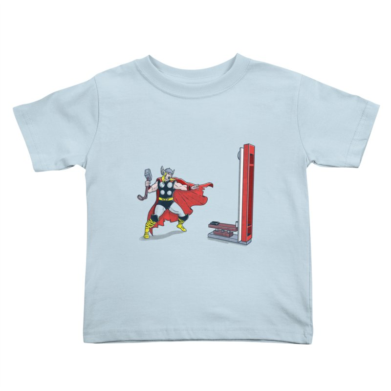 The Strongman Game Champion Kids Toddler T-Shirt by yortsiraulo's Artist Shop