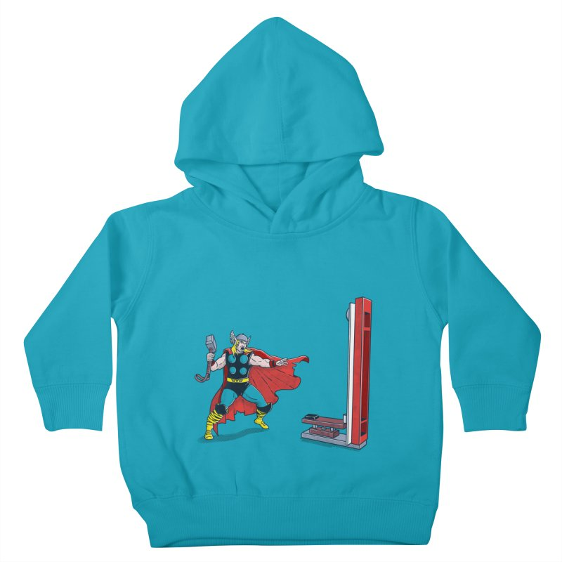 The Strongman Game Champion Kids Toddler Pullover Hoody by yortsiraulo's Artist Shop