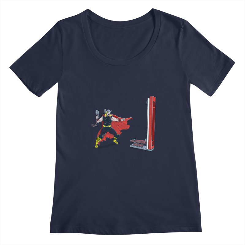 The Strongman Game Champion Women's Scoopneck by yortsiraulo's Artist Shop