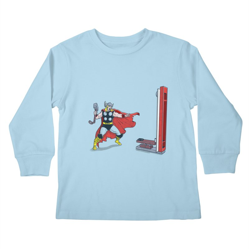 The Strongman Game Champion Kids Longsleeve T-Shirt by yortsiraulo's Artist Shop