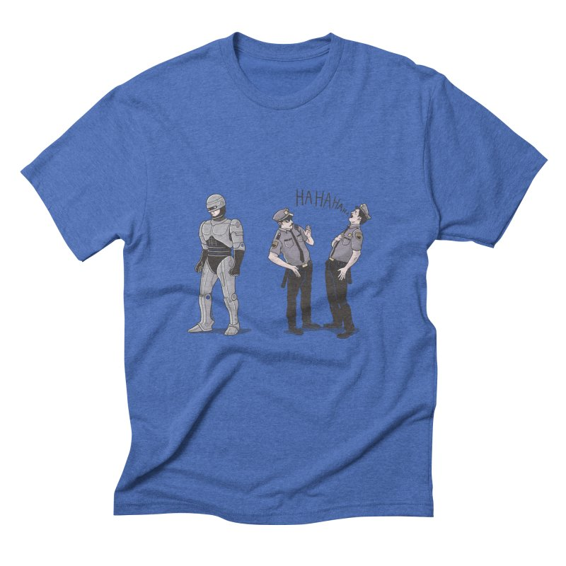 Robot Tears Men's Triblend T-shirt by yortsiraulo's Artist Shop