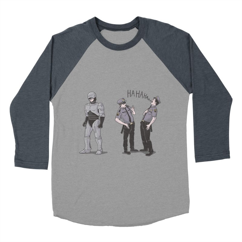 Robot Tears Women's Baseball Triblend T-Shirt by yortsiraulo's Artist Shop