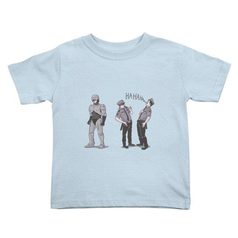 Robot Tears Kids Toddler T-Shirt by yortsiraulo's Artist Shop