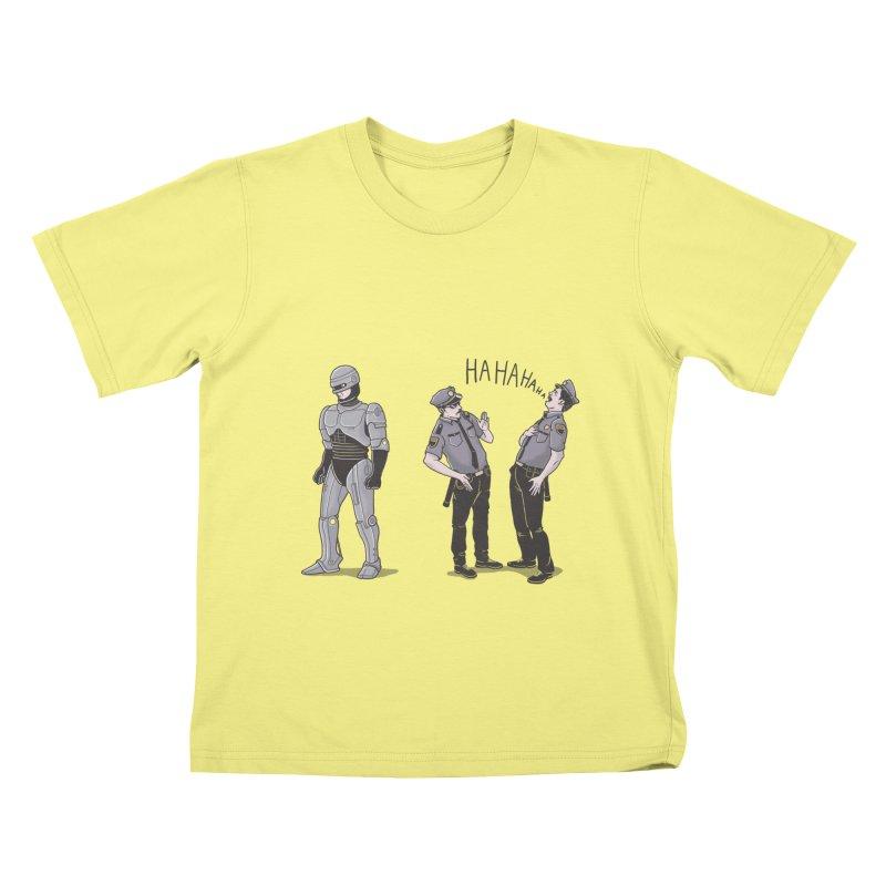 Robot Tears Kids T-shirt by yortsiraulo's Artist Shop