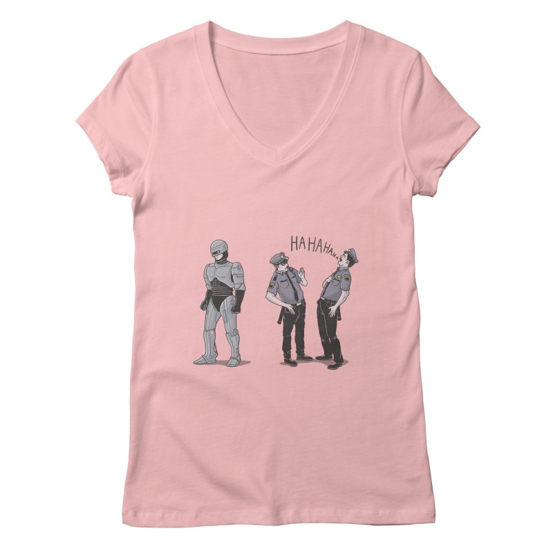 Robot Tears Women's V-Neck by yortsiraulo's Artist Shop