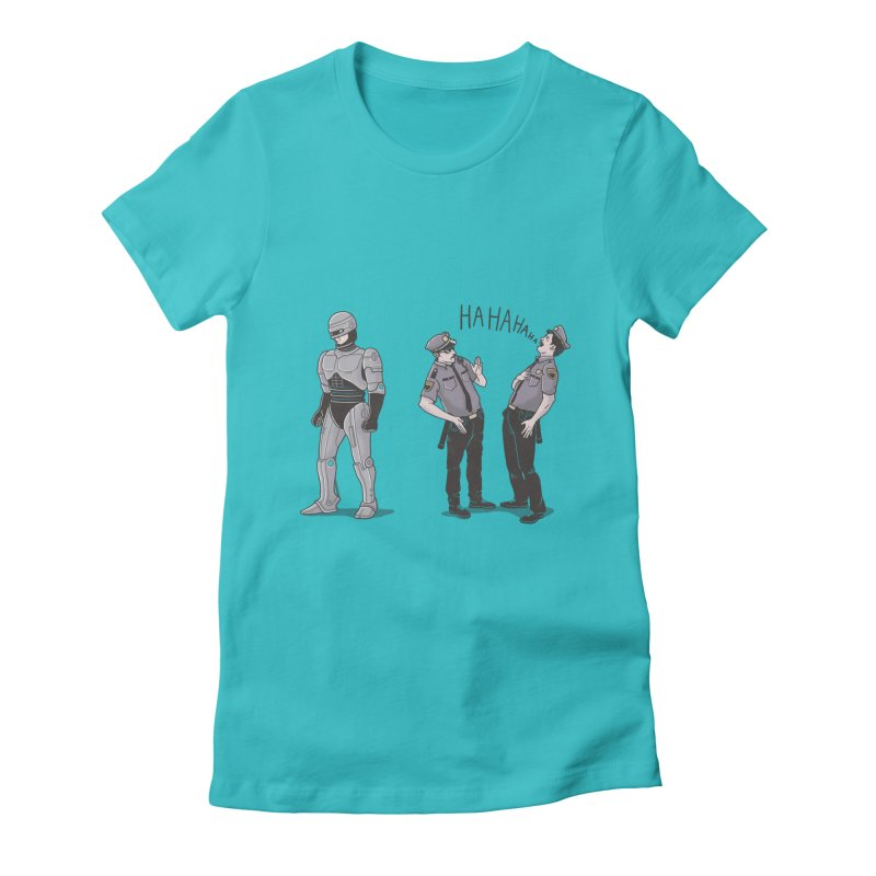 Robot Tears Women's Fitted T-Shirt by yortsiraulo's Artist Shop