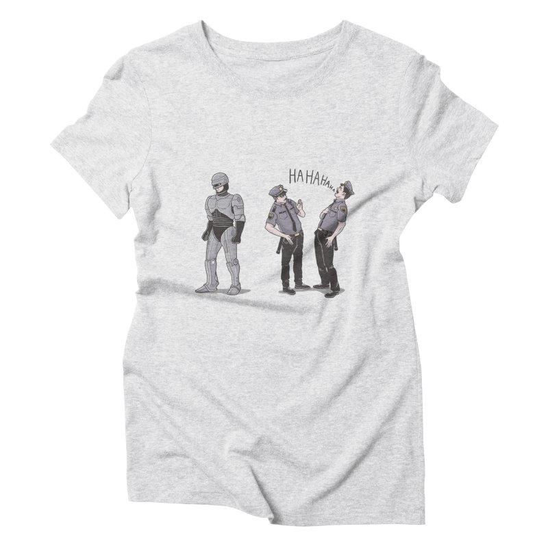 Robot Tears Women's Triblend T-shirt by yortsiraulo's Artist Shop
