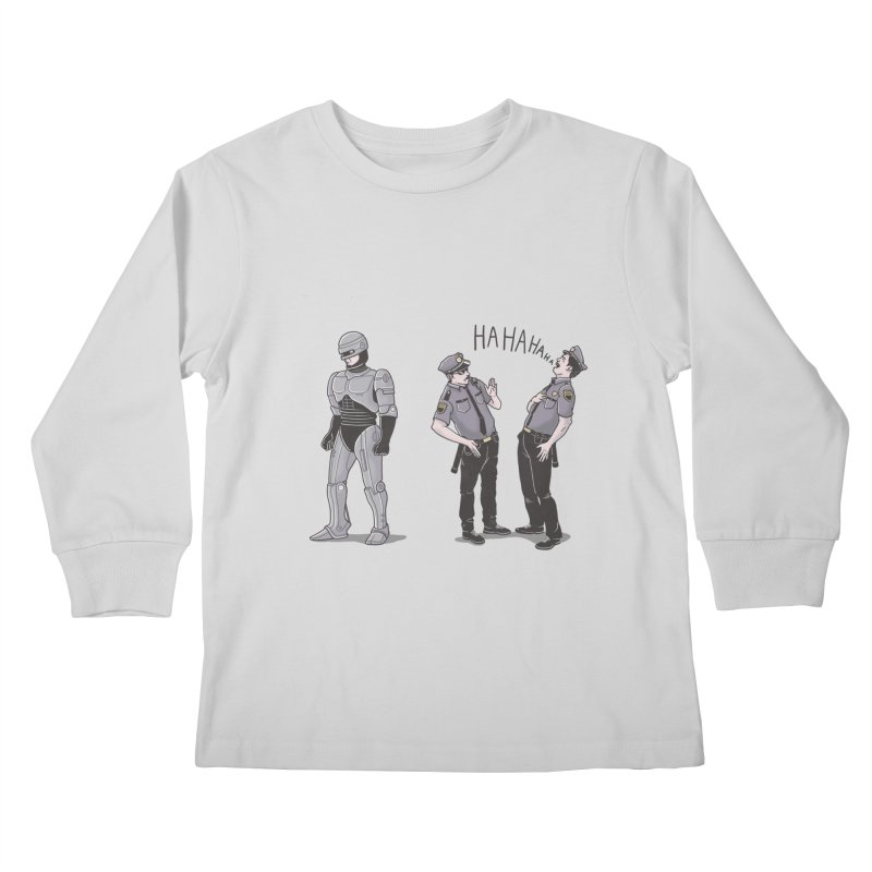 Robot Tears Kids Longsleeve T-Shirt by yortsiraulo's Artist Shop