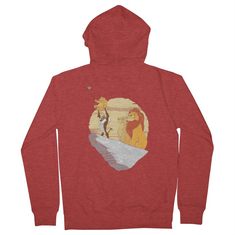 Pride Rock Selfie Women's Zip-Up Hoody by yortsiraulo's Artist Shop