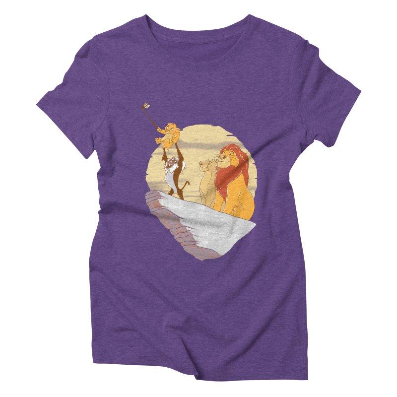 Pride Rock Selfie Women's Triblend T-shirt by yortsiraulo's Artist Shop