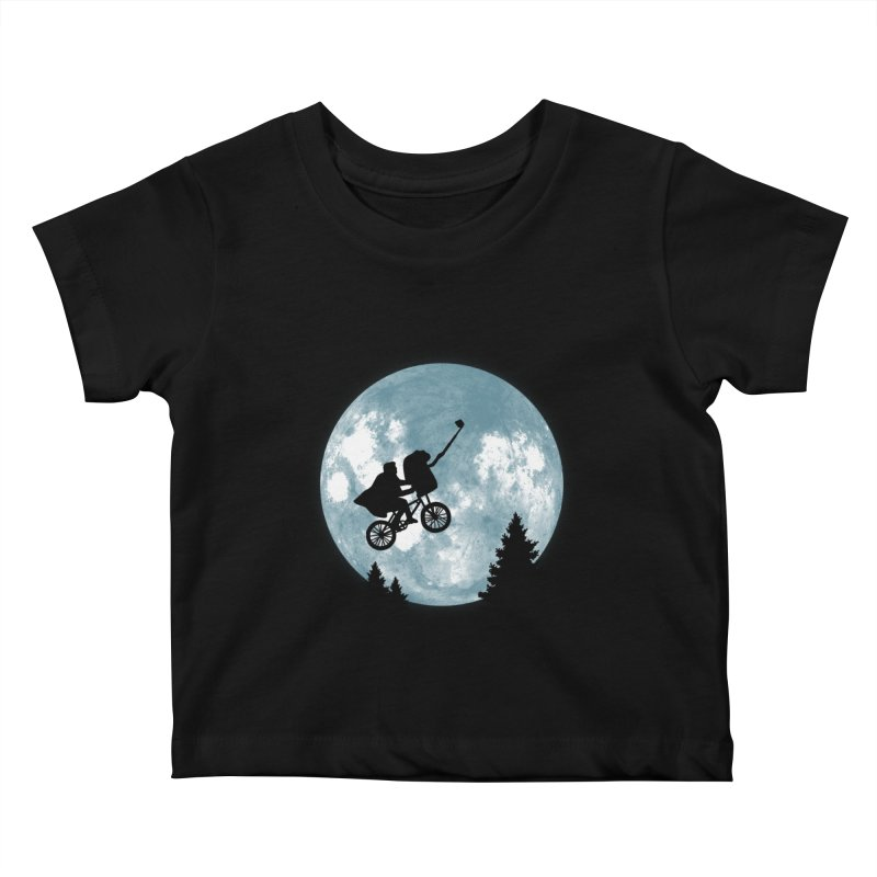 Phone Home Selfie Kids Baby T-Shirt by yortsiraulo's Artist Shop
