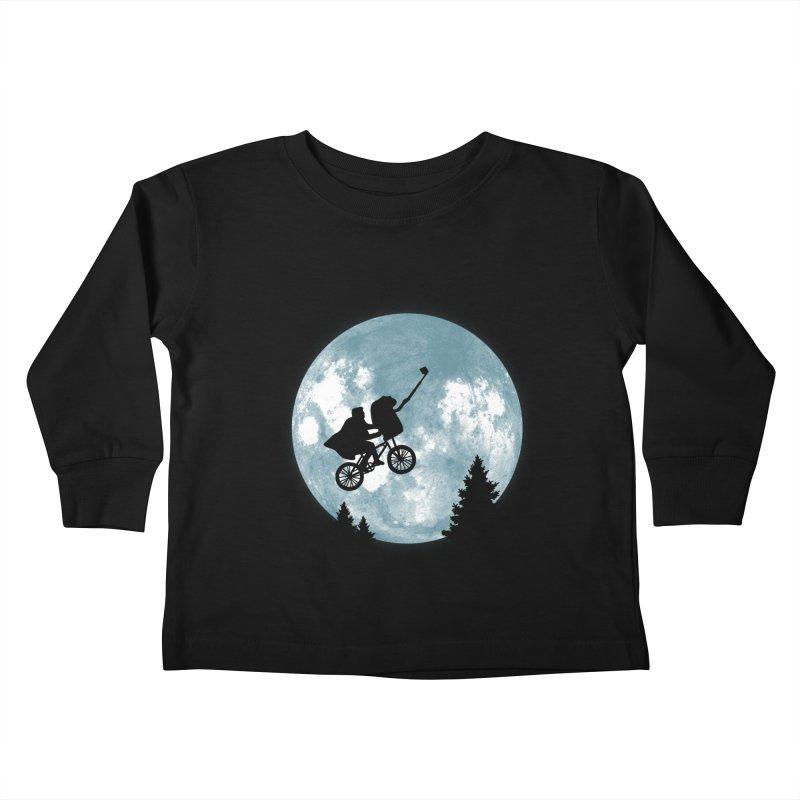 Phone Home Selfie Kids Toddler Longsleeve T-Shirt by yortsiraulo's Artist Shop