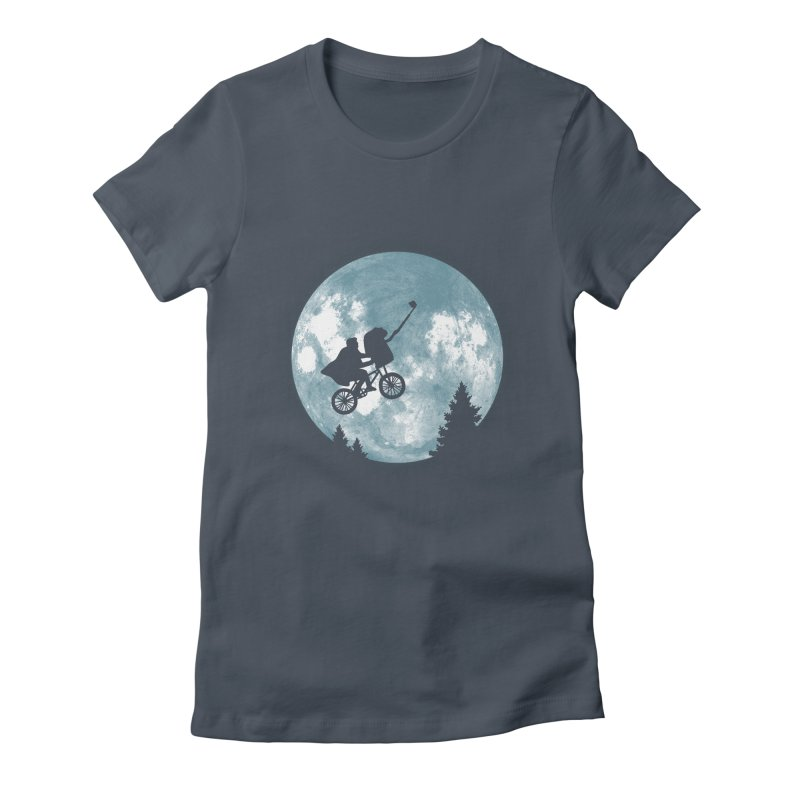 Phone Home Selfie Women's Fitted T-Shirt by yortsiraulo's Artist Shop
