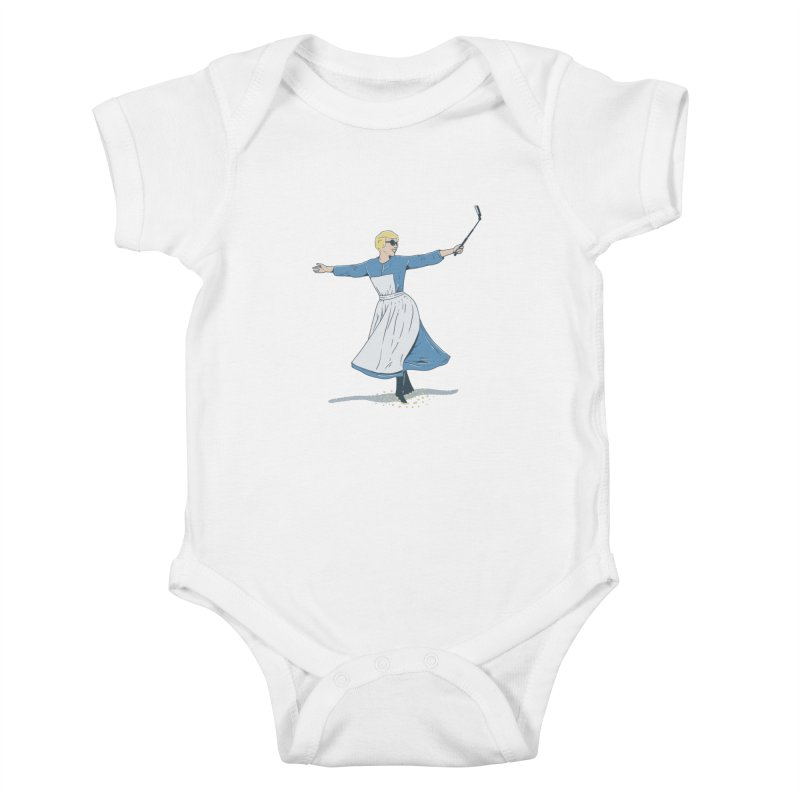 The Sound of Selfie Kids Baby Bodysuit by yortsiraulo's Artist Shop