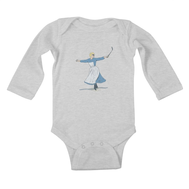 The Sound of Selfie Kids Baby Longsleeve Bodysuit by yortsiraulo's Artist Shop