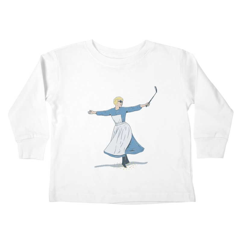 The Sound of Selfie Kids Toddler Longsleeve T-Shirt by yortsiraulo's Artist Shop