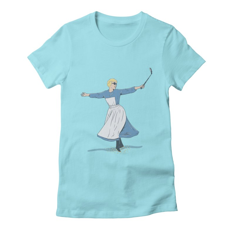 The Sound of Selfie Women's Fitted T-Shirt by yortsiraulo's Artist Shop
