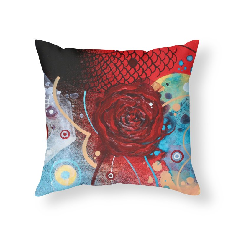 Rose VII Home Throw Pillow by YoSilvera's Artist Shop