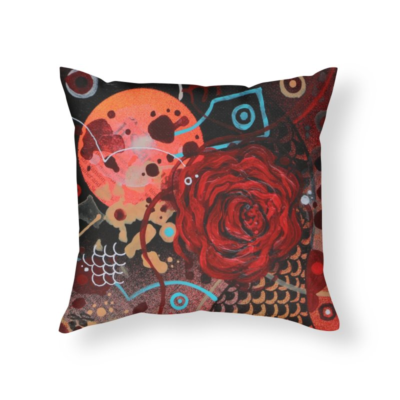 Rose VIII Home Throw Pillow by YoSilvera's Artist Shop