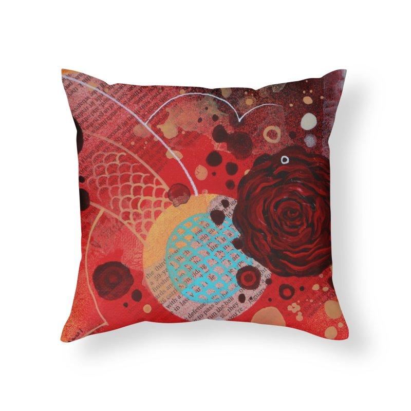 Rose IX Home Throw Pillow by YoSilvera's Artist Shop