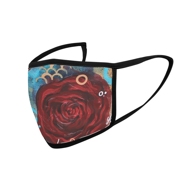 Rose XII Accessories Face Mask by YoSilvera's Artist Shop