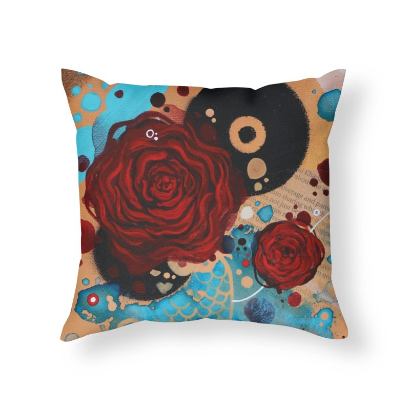 Rose XIII Home Throw Pillow by YoSilvera's Artist Shop