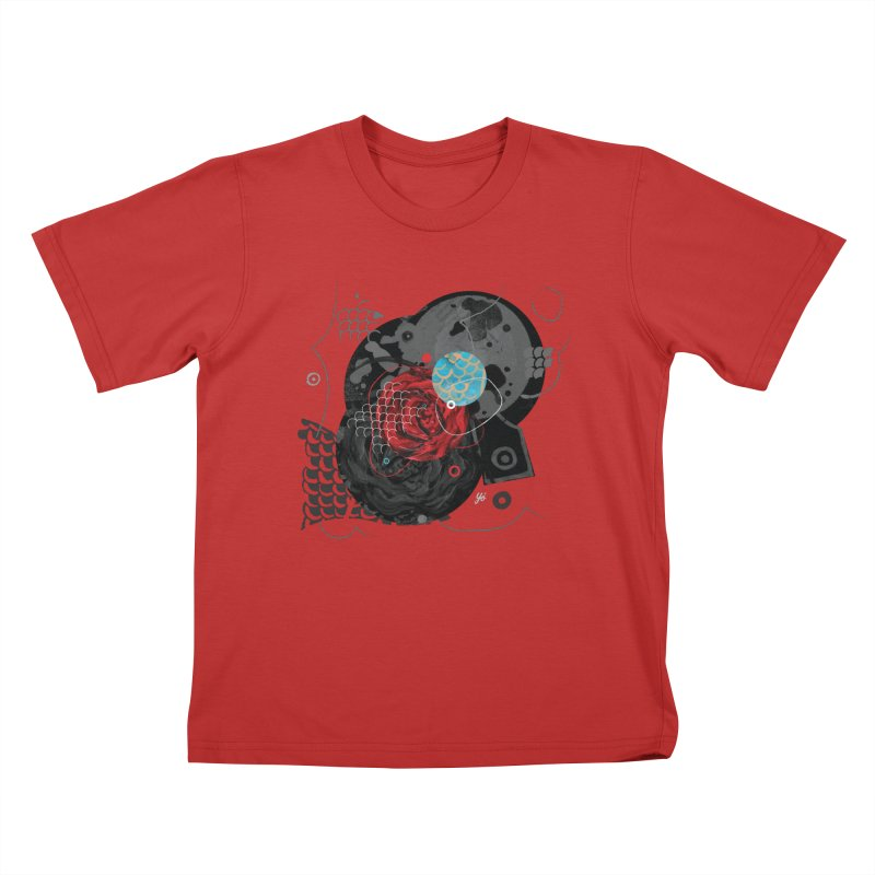 Rose XV Kids T-Shirt by YoSilvera's Artist Shop