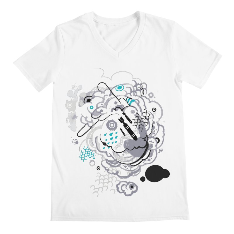 Cloud VI Men's V-Neck by YoSilvera's Artist Shop