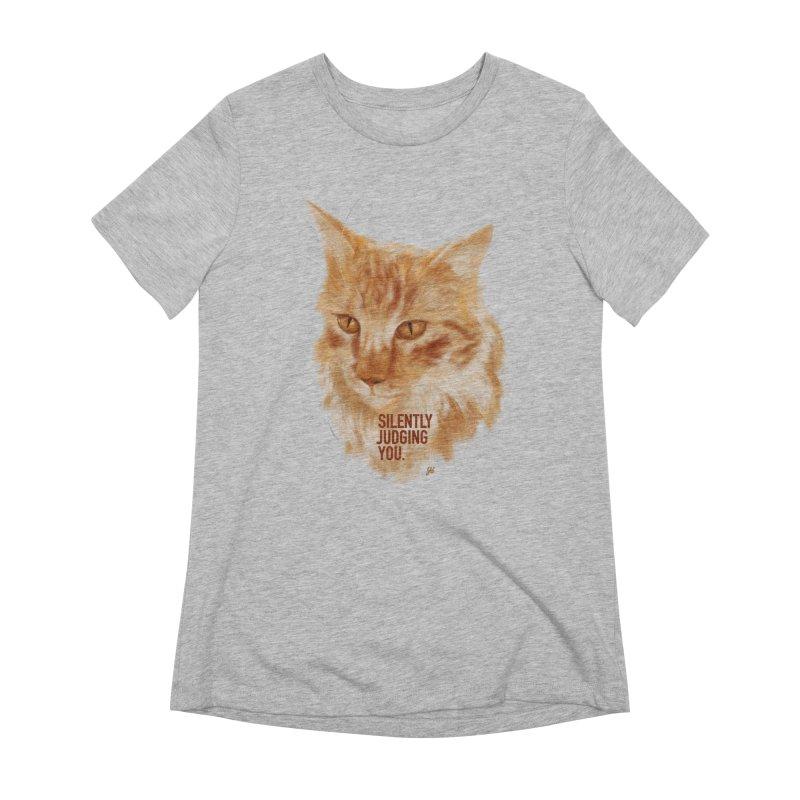 Silently Judging You Women's T-Shirt by YoSilvera's Artist Shop