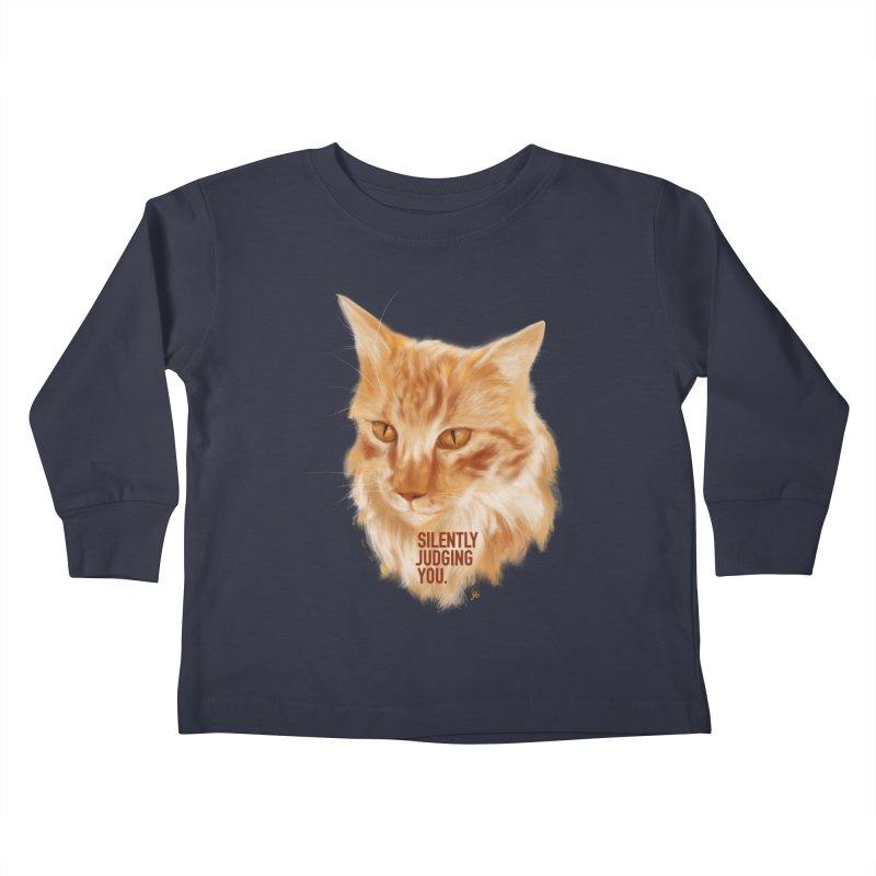 Silently Judging You Kids Toddler Longsleeve T-Shirt by YoSilvera's Artist Shop