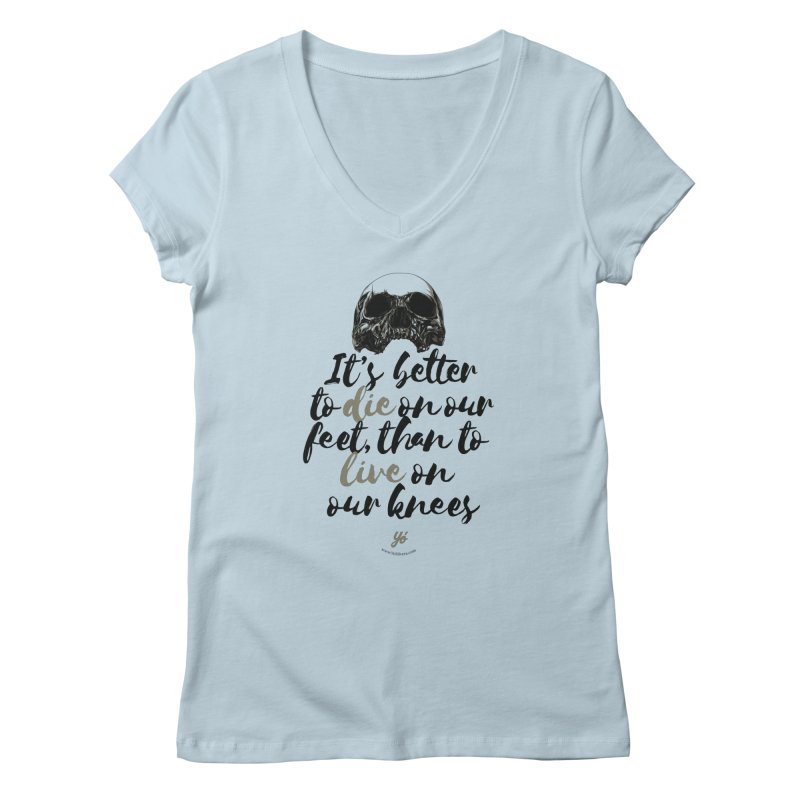 Live on our feet Women's V-Neck by YoSilvera's Artist Shop