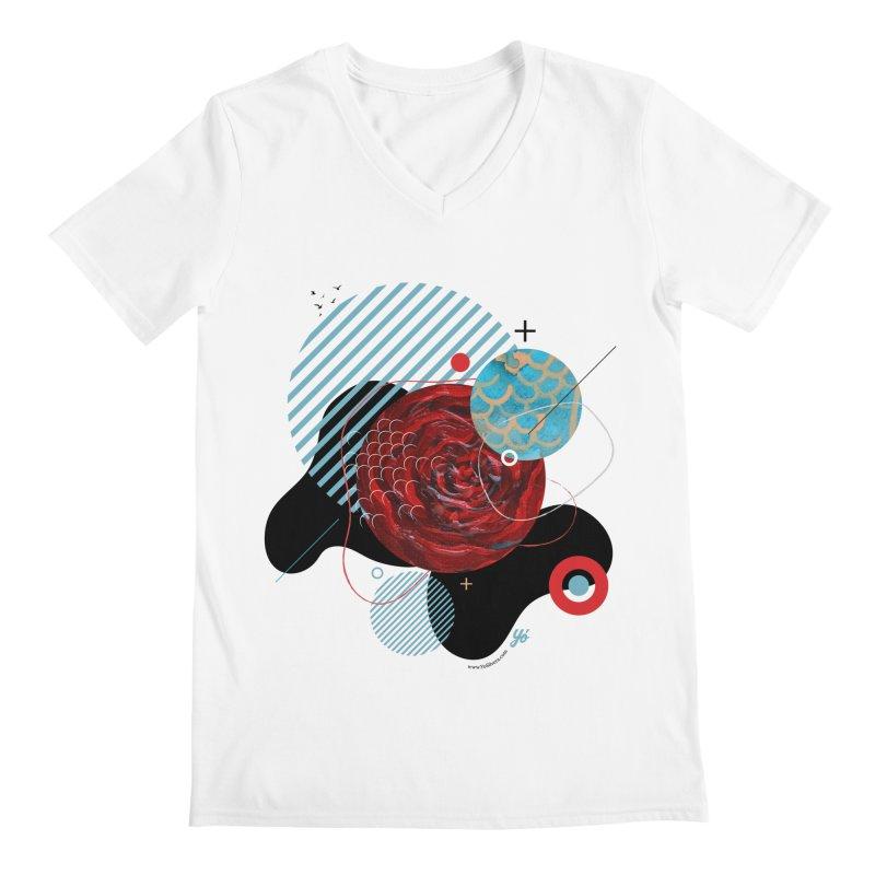 Cloud XV Men's V-Neck by YoSilvera's Artist Shop