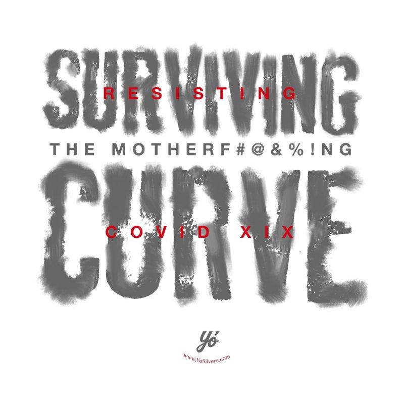 Surviving the Curve covid19 Women's V-Neck by YoSilvera's Artist Shop
