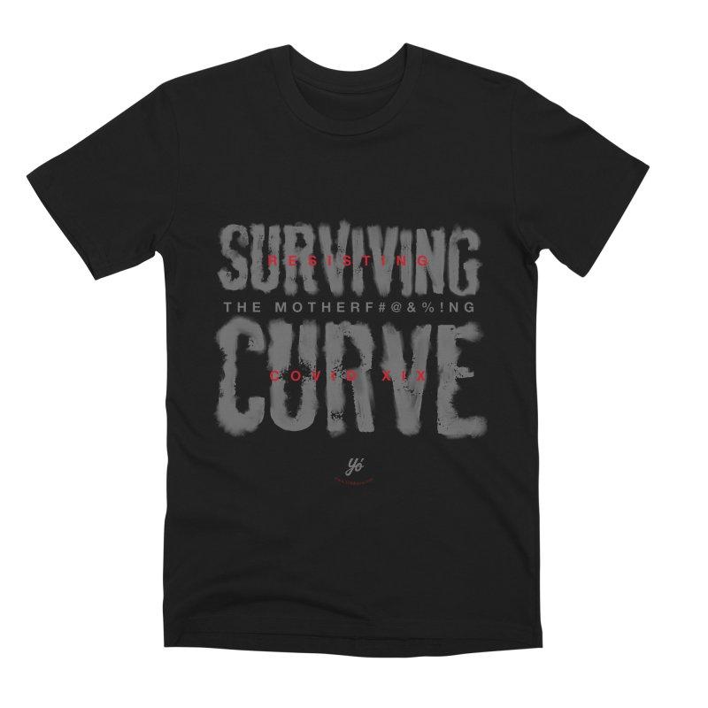 Surviving the Curve covid19 Men's T-Shirt by YoSilvera's Artist Shop