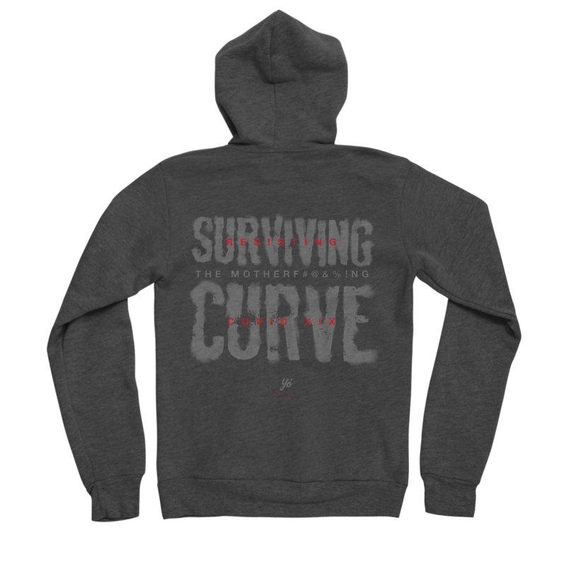 Surviving the Curve covid19 Men's Zip-Up Hoody by YoSilvera's Artist Shop