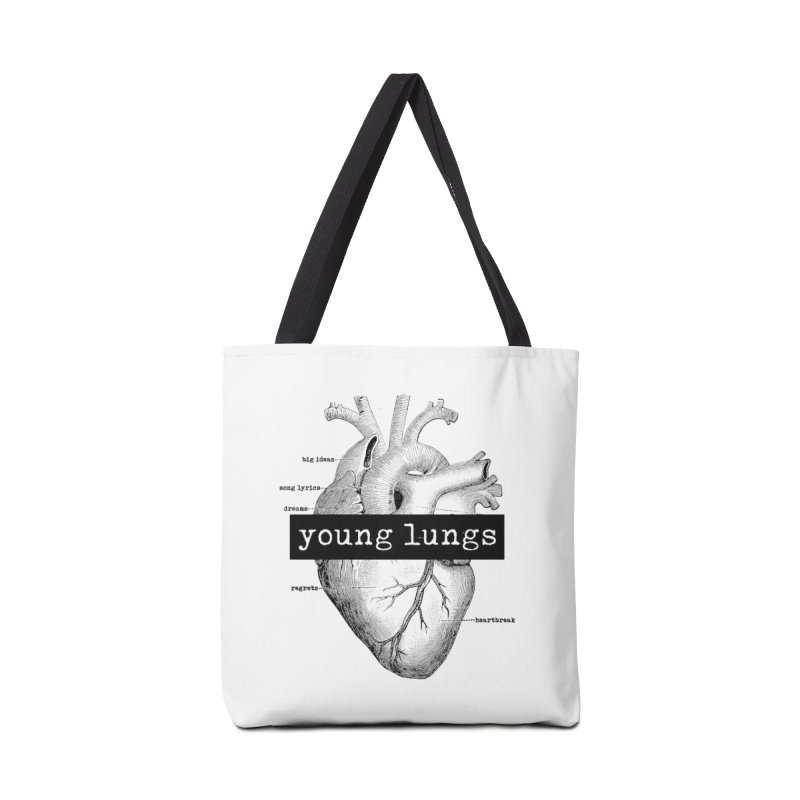 Heart Design Accessories Tote Bag Bag by Young Lungs Merch