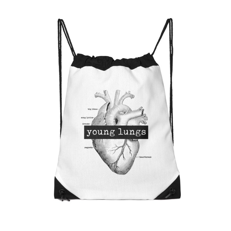 Heart Design Accessories Drawstring Bag Bag by Young Lungs Merch