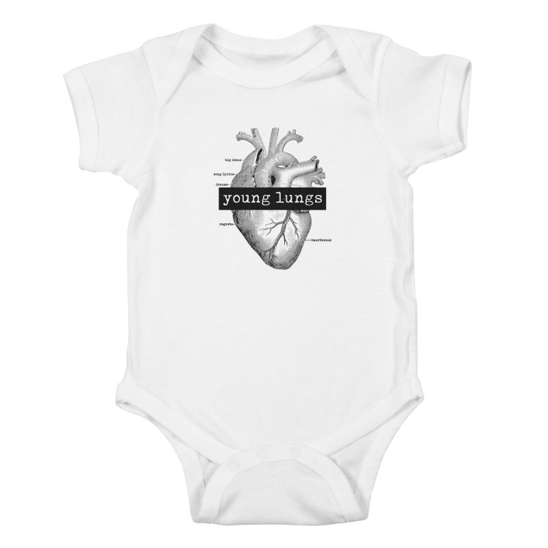 Heart Design Kids Baby Bodysuit by Young Lungs Merch