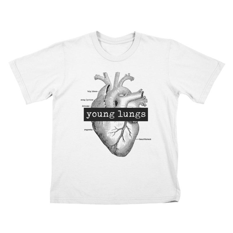 Heart Design Kids T-Shirt by Young Lungs Merch