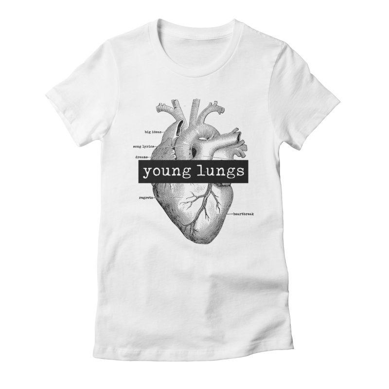 Heart Design Women's Fitted T-Shirt by Young Lungs Merch