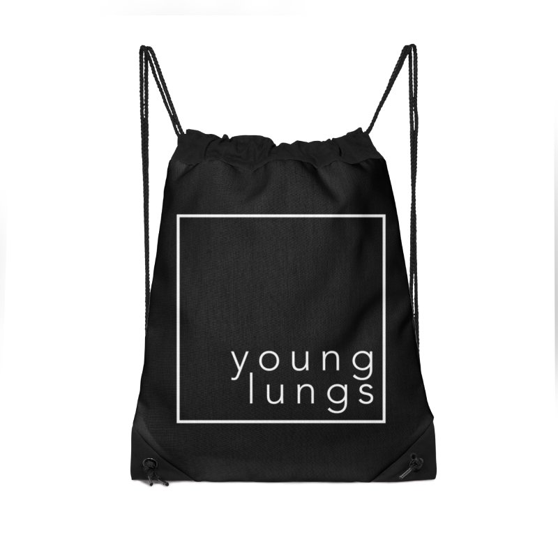 Square Design Accessories Drawstring Bag Bag by Young Lungs Merch
