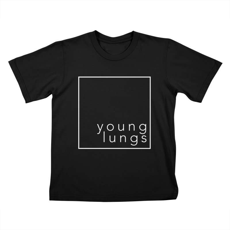 Square Design Kids T-Shirt by Young Lungs Merch