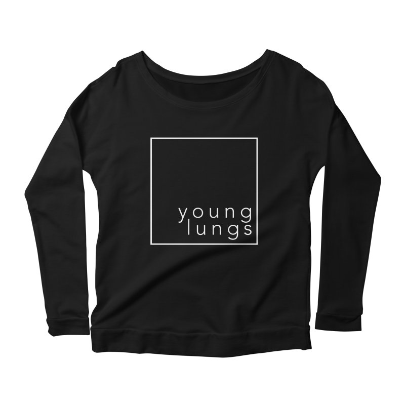 Square Design Women's Scoop Neck Longsleeve T-Shirt by Young Lungs Merch